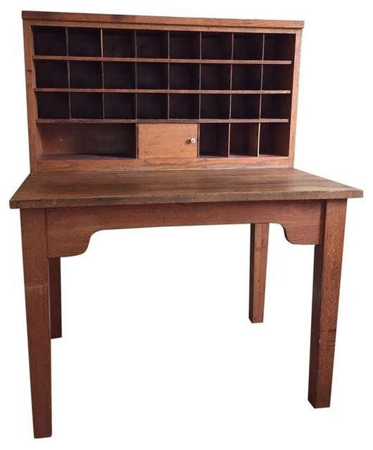 Vintage Mail Sorting Desk - Desks And Hutches
