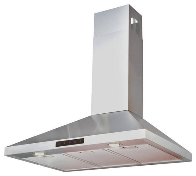"""Classic Stainless Steel Wall Hood 36"""" Contemporary"""