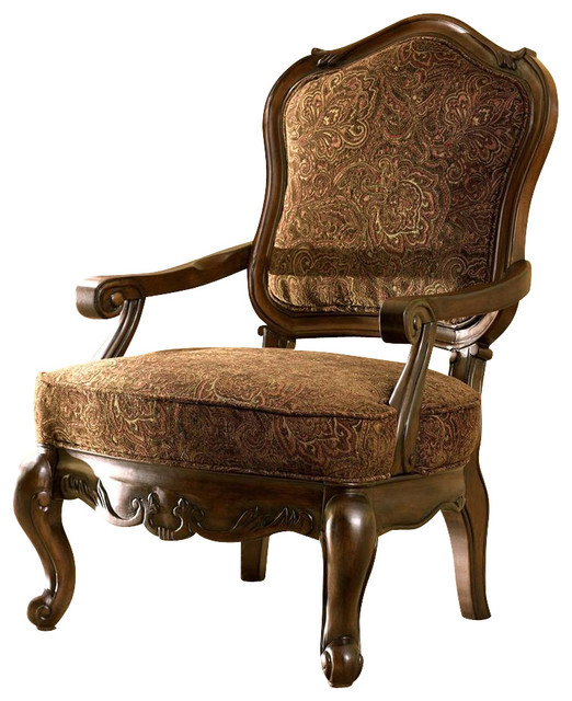 traditional accent chair w cabriole legs br