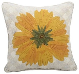 Orchid Floral Decorative Pillow, Coreo Yellow - Contemporary - Decorative Pillows - by JCPenney