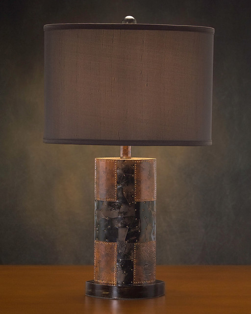 John Richard 26H Faux Brown Stone Finish Lamp
