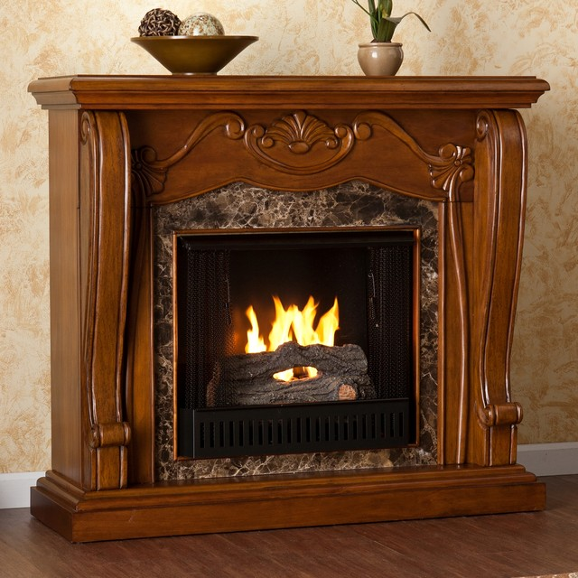 upton home sandro walnut gel fuel fireplace contemporary indoor fireplaces by. Black Bedroom Furniture Sets. Home Design Ideas