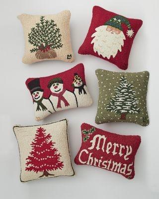 Merry Christmas Pillow Cover - Modern - Decorative Pillows - by Garnet Hill