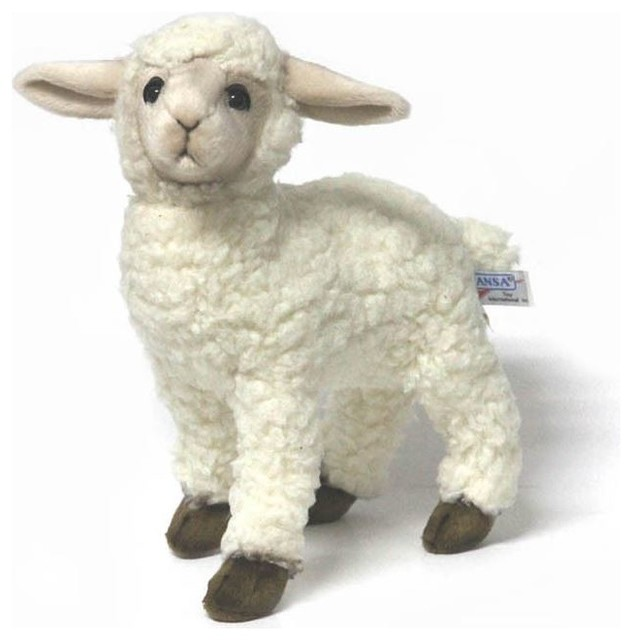 Hansa White Kid Sheep Lamb Farmhouse Kids Toys And
