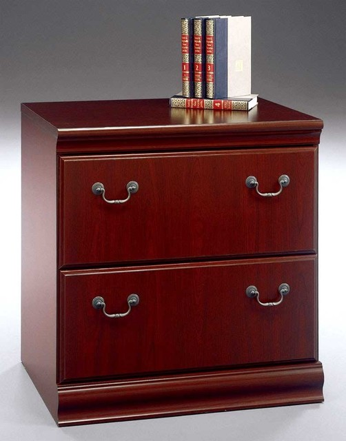 Harvest Cherry Stained Lateral File Cabinet - Traditional - Filing Cabinets - by ShopLadder