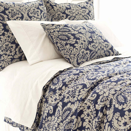 Imperial damask duvet cover ink contemporain housse - Linge de lit contemporain ...