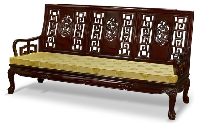 Rosewood imperial dragon design sofa asian sofas by for Oriental sofa designs