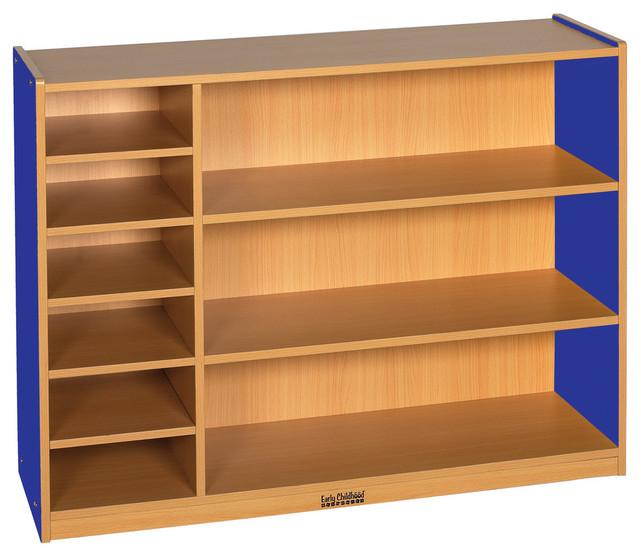 CE Multi, Purpose Cabinet, 3 Level, Blue - Contemporary - Storage Cabinets