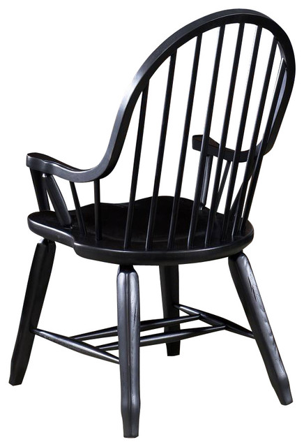 Bow Back Dining Chairs ~ Liberty furniture treasures bow back arm chair in black