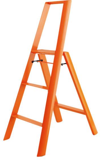 Metaphys Lucano Step Stools 3 Step Orange Modern Step