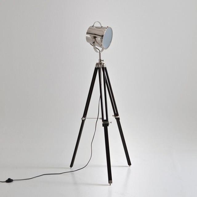 lampadaire tr pied style projecteur de cin ma gib contempor neo l mparas de pie de la. Black Bedroom Furniture Sets. Home Design Ideas