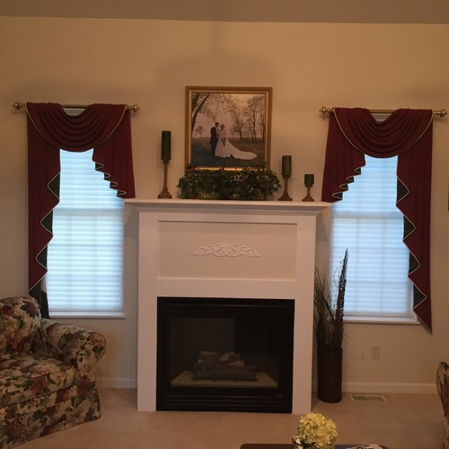 What would you do with this fireplace for Fireplace with windows on each side