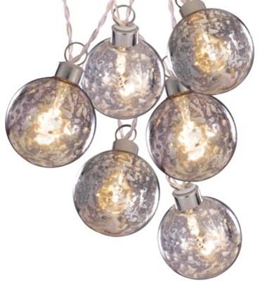 Rattan Ball String Lights Target : Clear Battery-Operated Silver Glass Ball String Lights, White Wire - Contemporary - Holiday ...