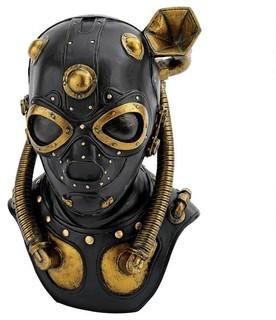 Steampunk Apocalypse Gas Mask Statue - Traditional - Decorative ...