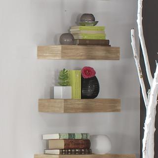 Lay estante 45 avellana r stico estanter as de pared de banak importa - Banak importa recibidores ...