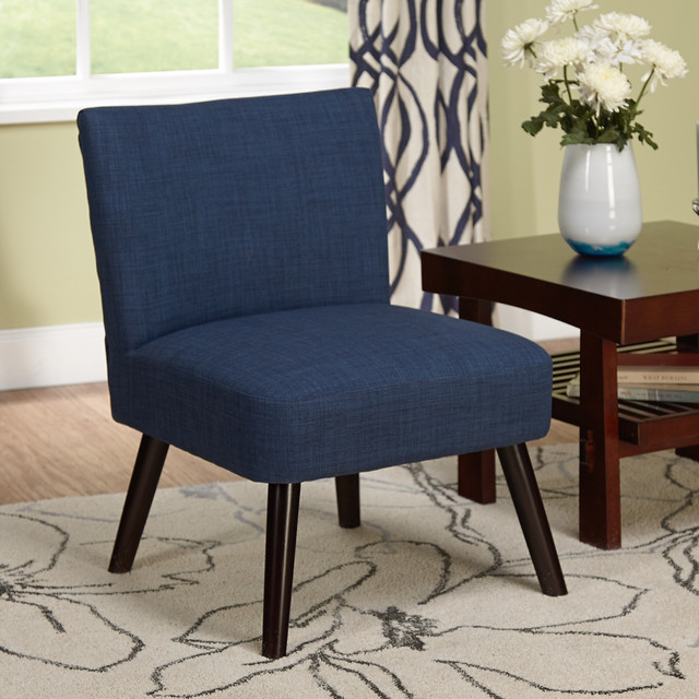 Simple Living Delilah Navy Accent Chair Contemporary Armchairs And Accent