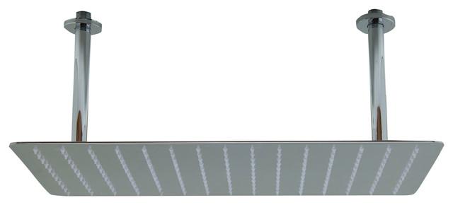 ALFI 20 Rectangular Brushed Solid Stainless Steel Ultra Thin Rain Showe