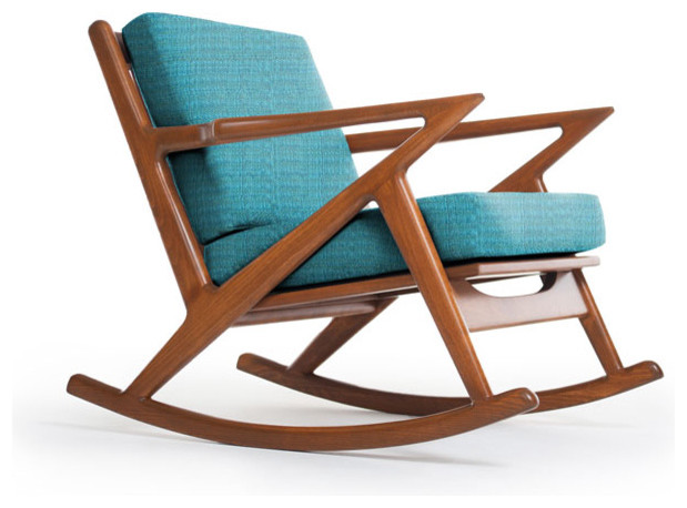 Kennedy Rocking Chair, Lucky Turquoise - Modern - Rocking Chairs - by ...