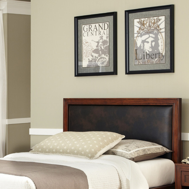 duet queen panel leather inset headboard contemporary headboards by. Black Bedroom Furniture Sets. Home Design Ideas