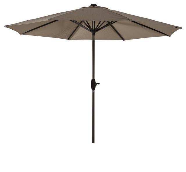 market patio umbrella with tilt and crank 8 steel ribs