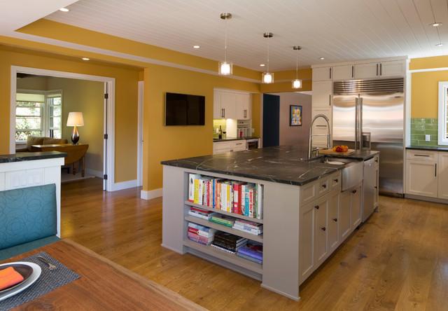 mustard yellow kitchen craftsman kitchen other by jeff king