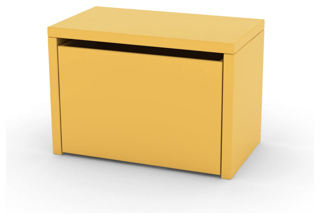 Flexa Kids 3 In 1 Storage Bench In Yellow Contemporary