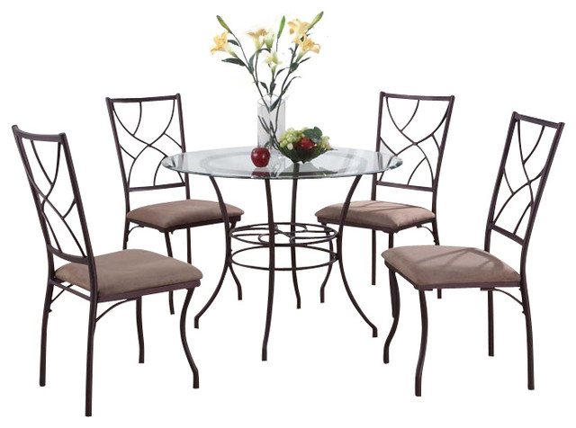 Table Set, Copper Finish - Transitional - Dining Sets - by ...