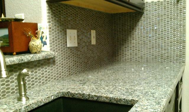 kitchen backsplash oval ceramic mosaic and fasade panels