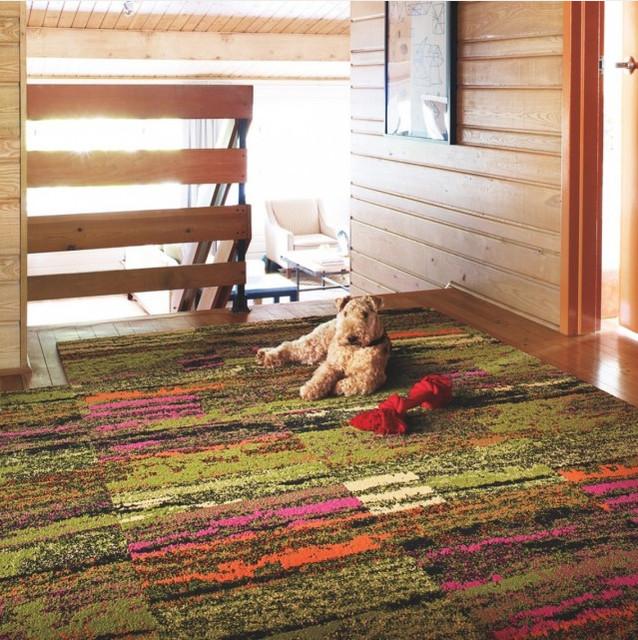 Flooring For Seasonal Homes: Cambium Carpet Tile In Geranium
