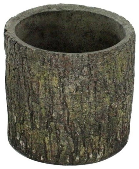 Cypress Faux Wood Cement Container Small Set Of 2 Rustic