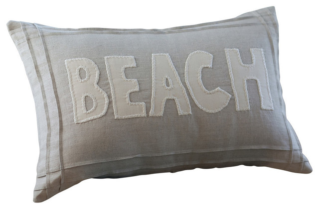 Beach Style Pillows : Natural Beach Pillow - Beach Style - Decorative Pillows - by Taylor Linens