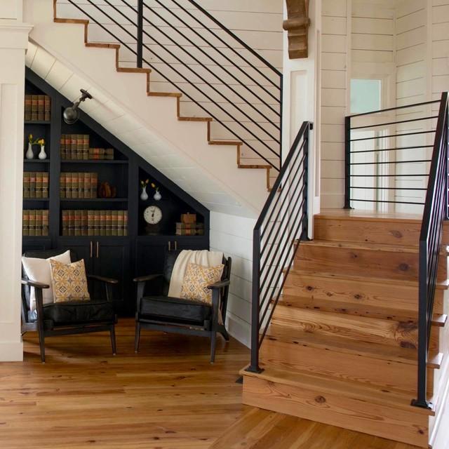 Lighting Basement Washroom Stairs: Fixer Upper Photos