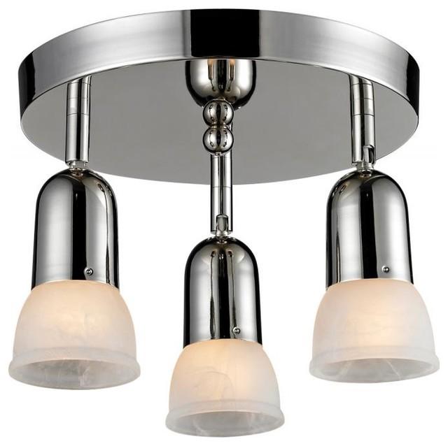 3 Light Semi Flush Mount Light Contemporary Flush Mount Ceiling Lighting