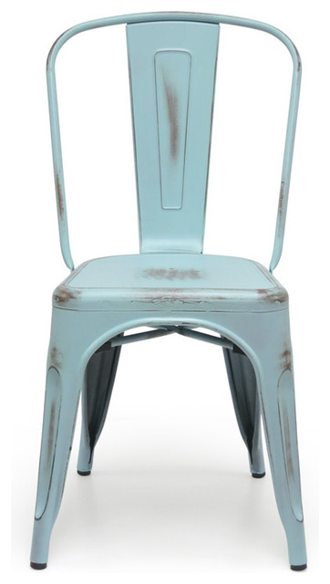 bastille cafe stacking chair antique turquoise set of 2