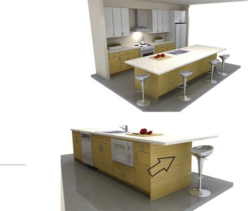 Kitchen Island 11' X 4'