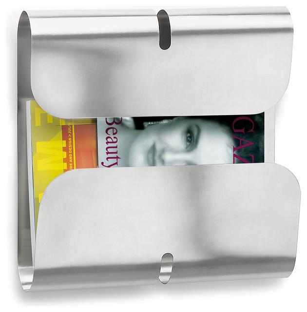 Blomus 65198 Vuelo Wall Mounted Magazine Rack Contemporary Magazine Racks By Unbeatablesale