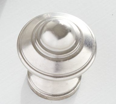 Vintage Knob, Satin Nickel finish - Traditional - Cabinet And Drawer Knobs - by Pottery Barn