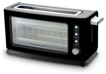 russell hobbs rht100bau perfect toast clear glass 2 slice toaster. Black Bedroom Furniture Sets. Home Design Ideas