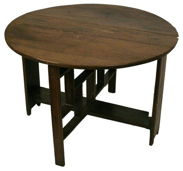 Shanxi elmwood round folding coffee table rustic coffee tables by chairish Folding coffee table