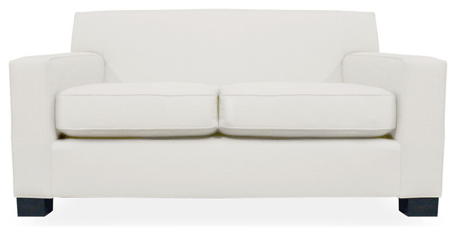 Ciara Linen Down Wrapped 72 Sofa White Linen