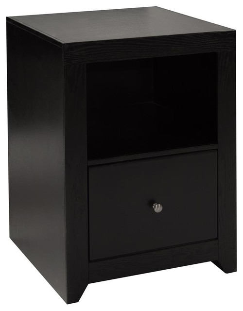 File Cabinet in Mocha Finish - Contemporary - Filing Cabinets