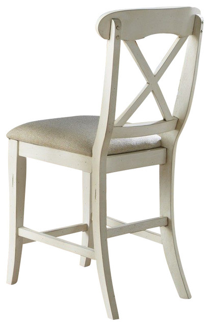 Liberty Furniture Ocean Isle Counter Height Chair Set of 2 Farmhouse Bar