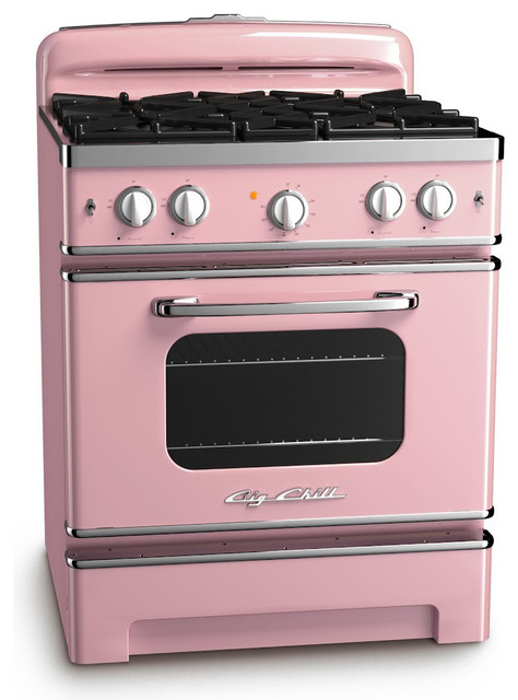 retro stove pink lemonade midcentury gas ranges and