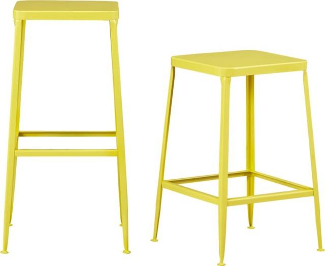 Flint Yellow Bar Stool Eclectic Bar Stools And Counter
