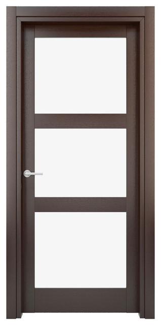 Solid Wood Interior Door Model W29g 29x80 Modern