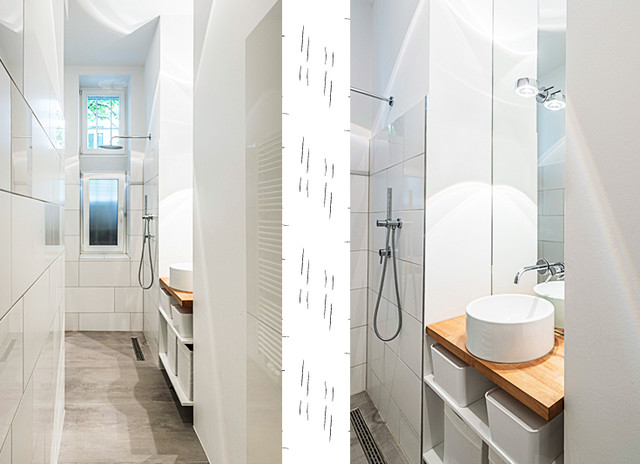 Kleine badezimmer beispiele inspiration for Schmales badezimmer ideen