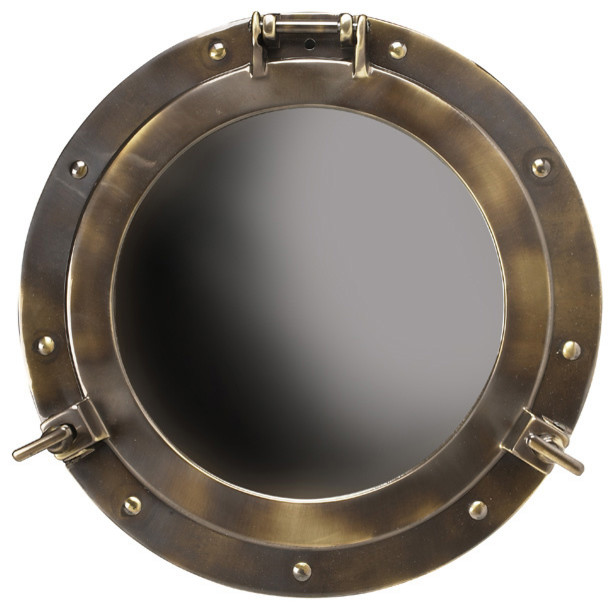 Porthole mirror large beach style mirrors by for Porthole style mirror