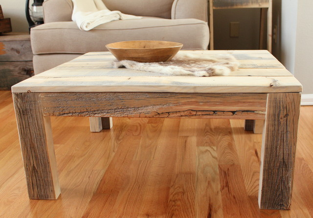 Reclaimed Wood Parsons Coffee Table Solid Wood