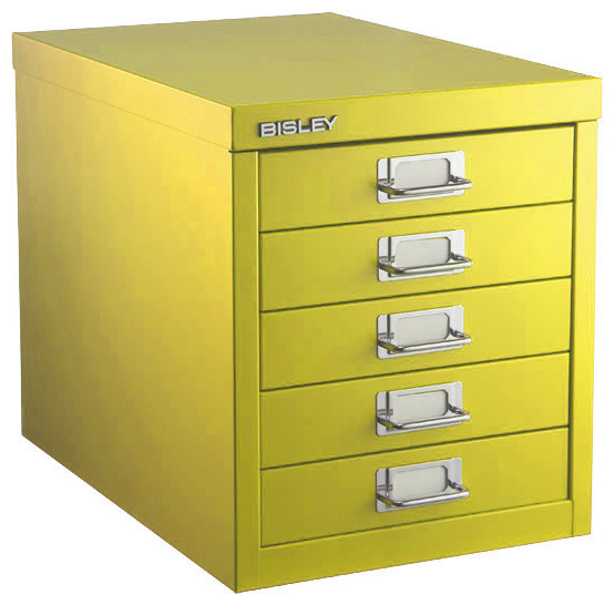 Bisley Five-Drawer Cabinet - Filing Cabinets - by The Container Store