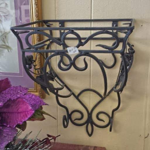 black wrought iron wall shelf for sale traditional. Black Bedroom Furniture Sets. Home Design Ideas